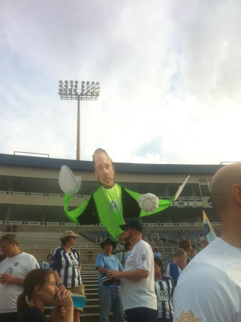 The Chattahooligans re-create CFC goalkeeper Gregory Hartley