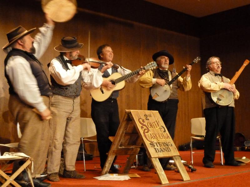 The 2nd South Carolina String Band performs in the Chattanooga Public Library auditorium.