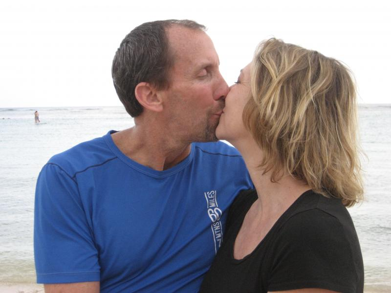 First Wedded Kiss
