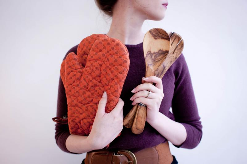 African goods such as these oven mitts and wooden spoons are distributed and sold at Amani Chattanooga.