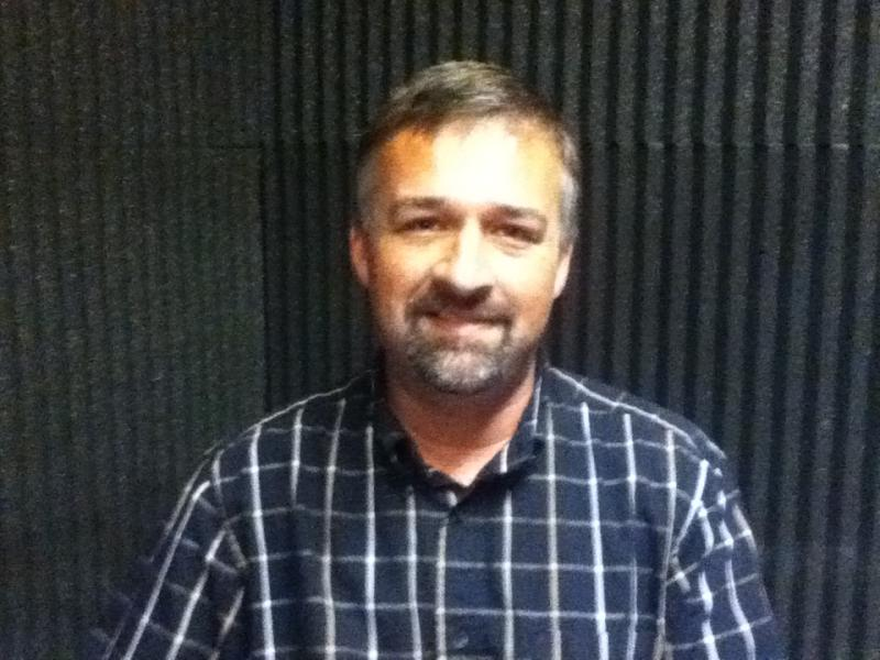 Author Keith Robinson in the WUTC studios.