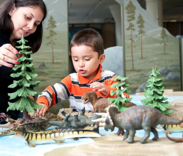 Playtable for Dinosaurs:Land of Fire and Ice at Creative Discovery Museum