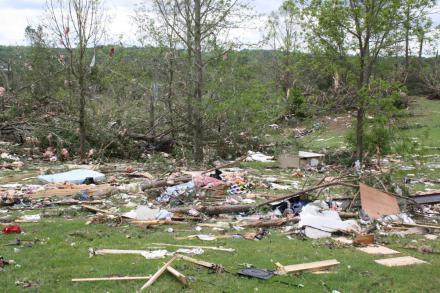 This photo was taken near the home of Virigina and Tim Miller in Apison, Tenn., after a deadly tornado came through on April 27, 2011.