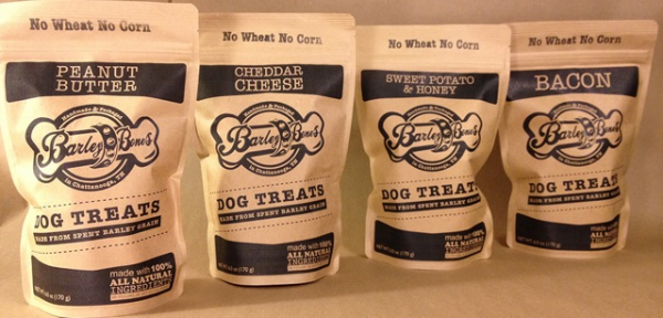 Barley Bones, a Chattanooga company, crafts dog treats from the spent barley waste of local beer breweries.
