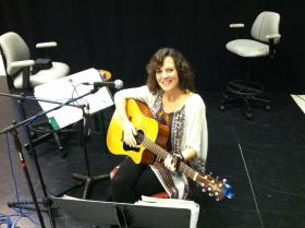 Mary Sanford in our WUWF Studio for Acoustic Interlude.