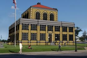 Rendering of proposed County Courthouse restoration in Milton, FL.