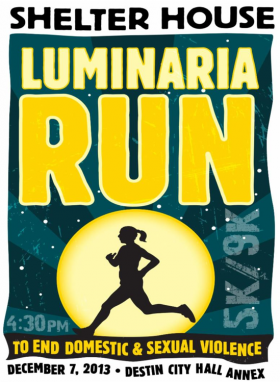 The Shelter House's 3rd annual Luminaria Run is this weekend.