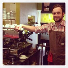 Matt Barnhill, barista and manager at The Leisure Club.