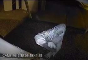 Security footage of suspected arsonist.