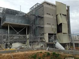 Damage from Wednesday's blast at the Escambia Co. Jail
