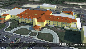 Rendering of the expanded Sacred Heart Health Center Emerald Coast.