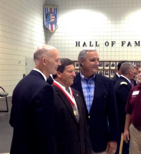 Governor Rick Scott, Escambia County School Superintendent Malcolm Thomas and Congressman Jeff Miller. Thomas was awarded the Governor's Veterans Service Award Medal.