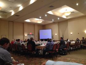 Florida County Commissioners from Gulf Coast counties meet at the Hilton on Pensacola Beach Thursday morning.