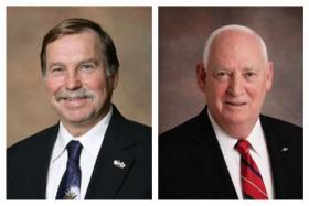 Santa Rosa District 2 Commissioner Bob Cole and Santa Rosa District 4 Commissioner Jim Melvin.