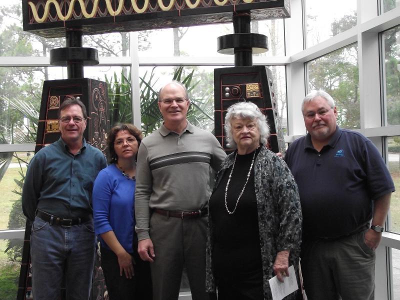 Lucy Morgan with Bob Barrett, Sandra Averhart, Pat Crawford, and Dave Dunwoody.