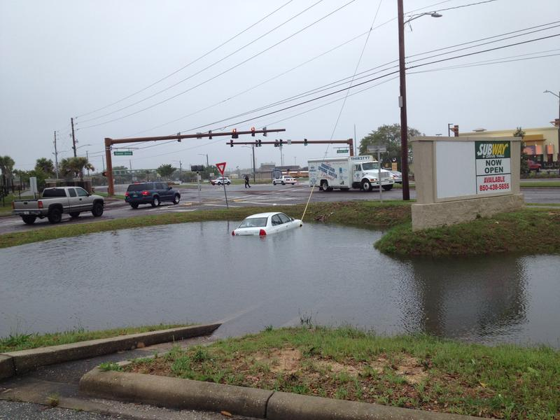 Gulf Breeze Parkway experienced flooding