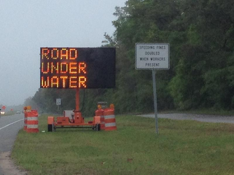 Santa Rosa County has many flooded roads
