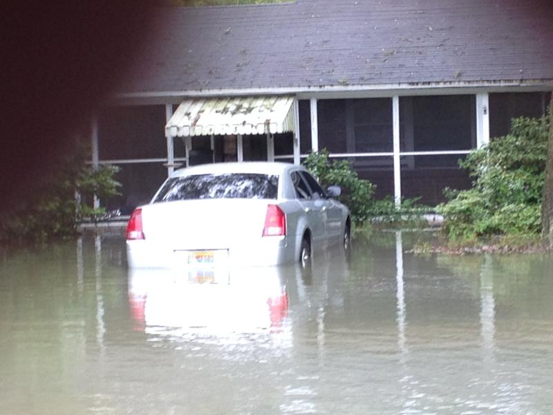 Homes along Fairpoint Drive in Gulf Breeze were flooded.
