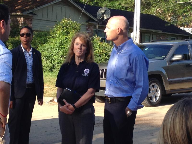 Gov Scott and FEMA's Gracia Szczech
