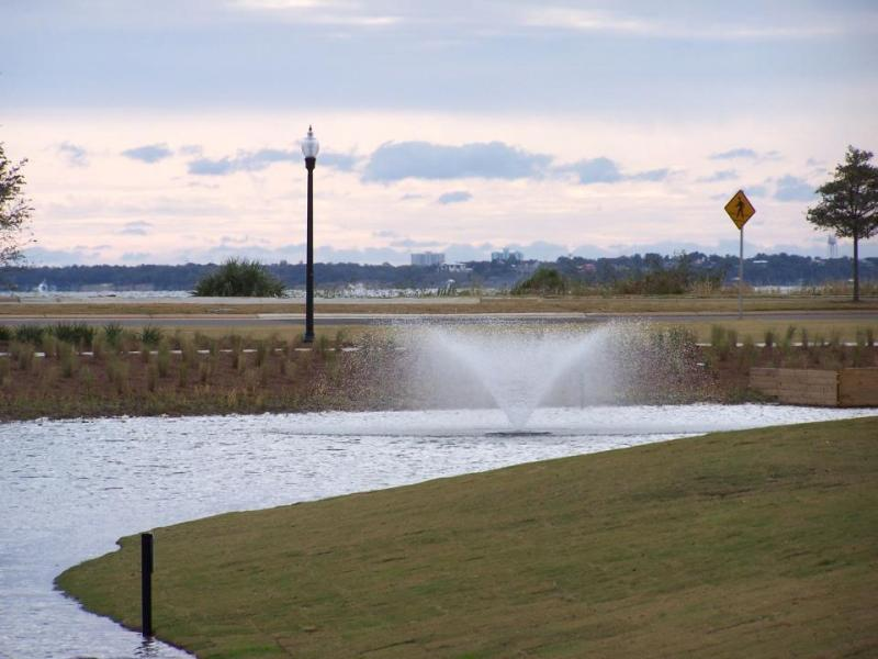 Admiral Mason Park is an example of attractive stormwater retention.