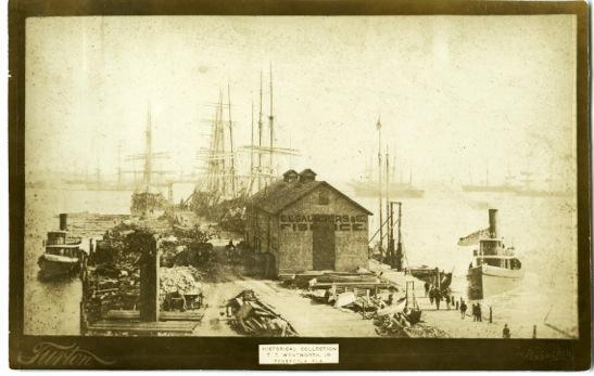 E.E. Saunders & Co. fish house, once located on Palafox Street Wharf