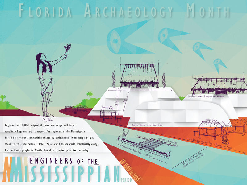 2017 Florida Archaeology Month Poster Front