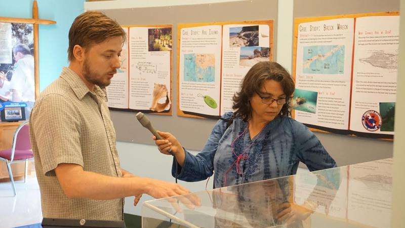 Mike Thomin, manager of FPAN's Destination Archaeology Resource Center Museum, tells Sandra Averhart about latest exhibit on the threat of sea level rise.