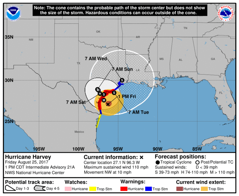 Map Of Texas And Florida.Harvey Prepares To Slam Into Texas Florida Watches Closely Wuwf