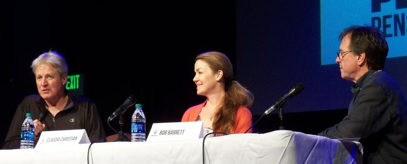 Bruce Boxleitner, Claudia Christian and Bob Barrett at the Rex Theater during Pensacon 2016