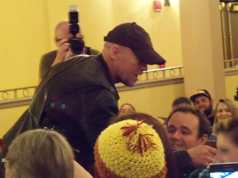 Michael Rooker working the crowd at the Saenger during Pensacon 2016