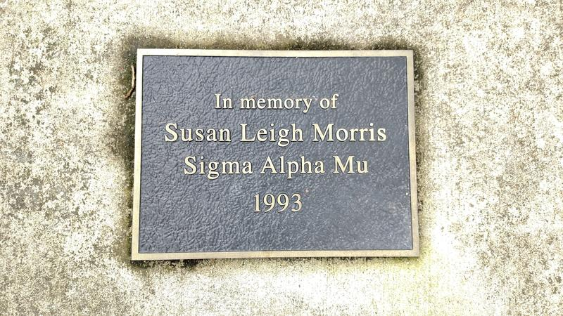 A plaque honors Susan Morris.