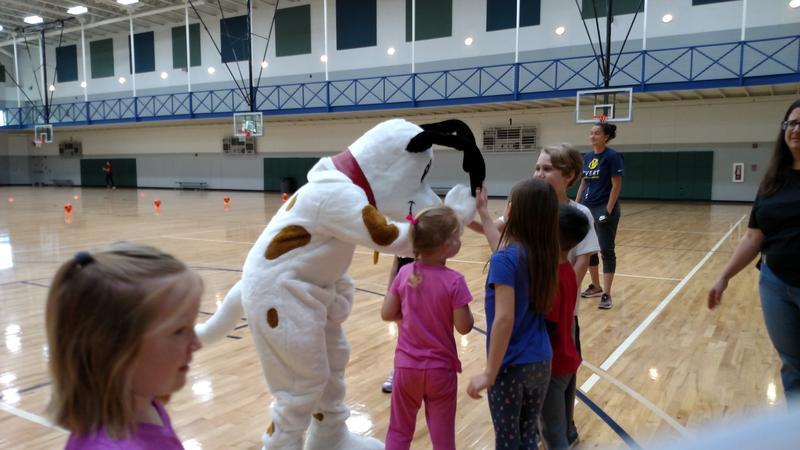 Walker Wiggle meets kids at UWF's Movement Academy.