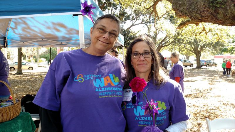 Lynda Sizemore and Theresa Clark from WUWF joined the walk team from Pensacola Memorial Gardens and Funeral Home.