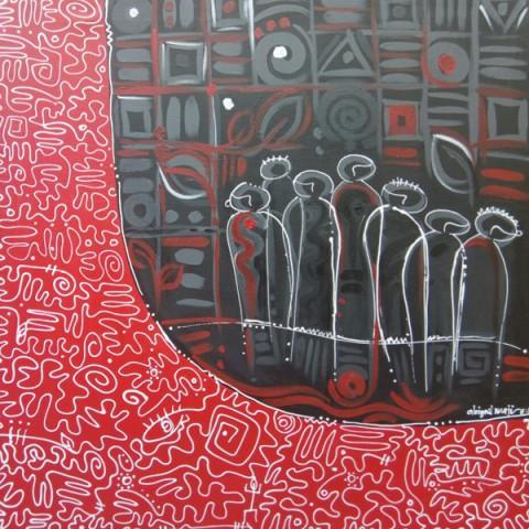 """Neighbors Keeper"" by GGAF 2018 Invited International Artist Abigain Nnaji."
