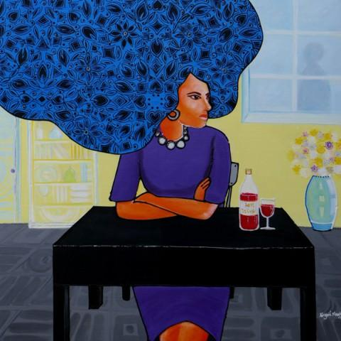 """""""TGIF"""" is the name of this painting by GGAF 2018 Invited International Artist Abigail Nnaji from Nigeria."""