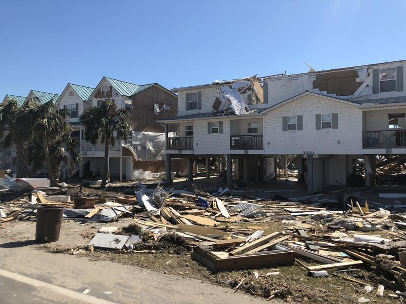 Hurricane Michael storm damage in the Panama City area.