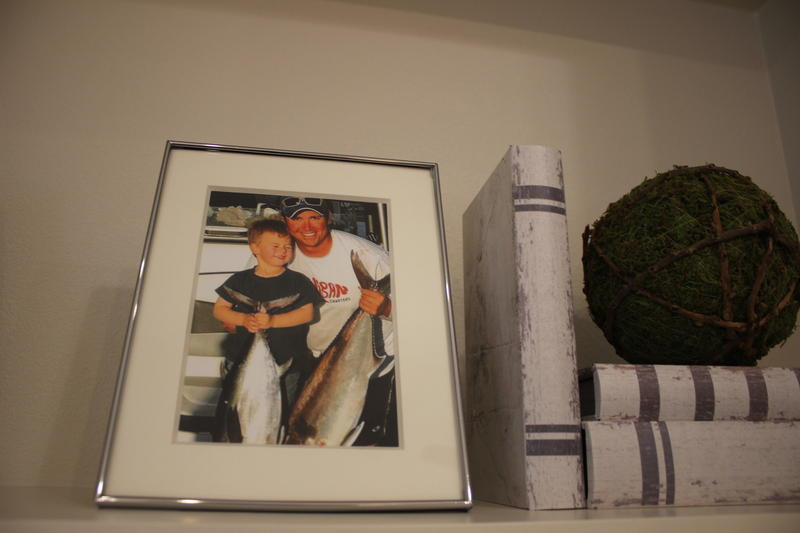 Personal touches, such as family photos, were already inside the home as the Dove family walked in.