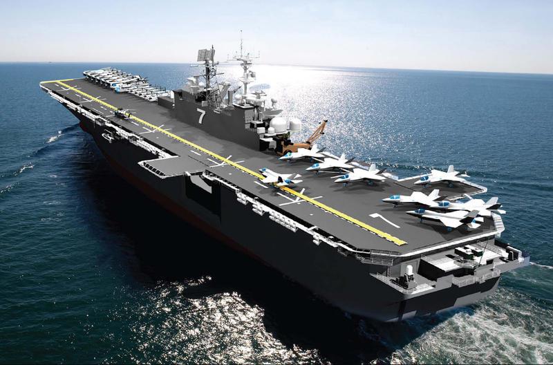 Artist rendering of the future USS Tripoli (LHA 7).