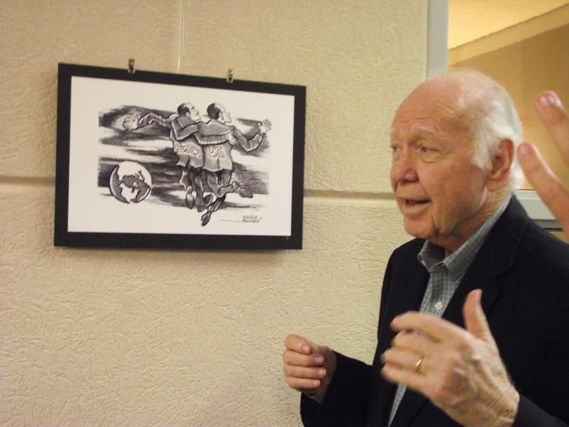 J. Earle Bowden with some of his work at Gallery 88 in September 2014