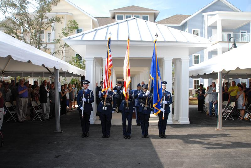Honor Guard in front of Bob Hope Village 5