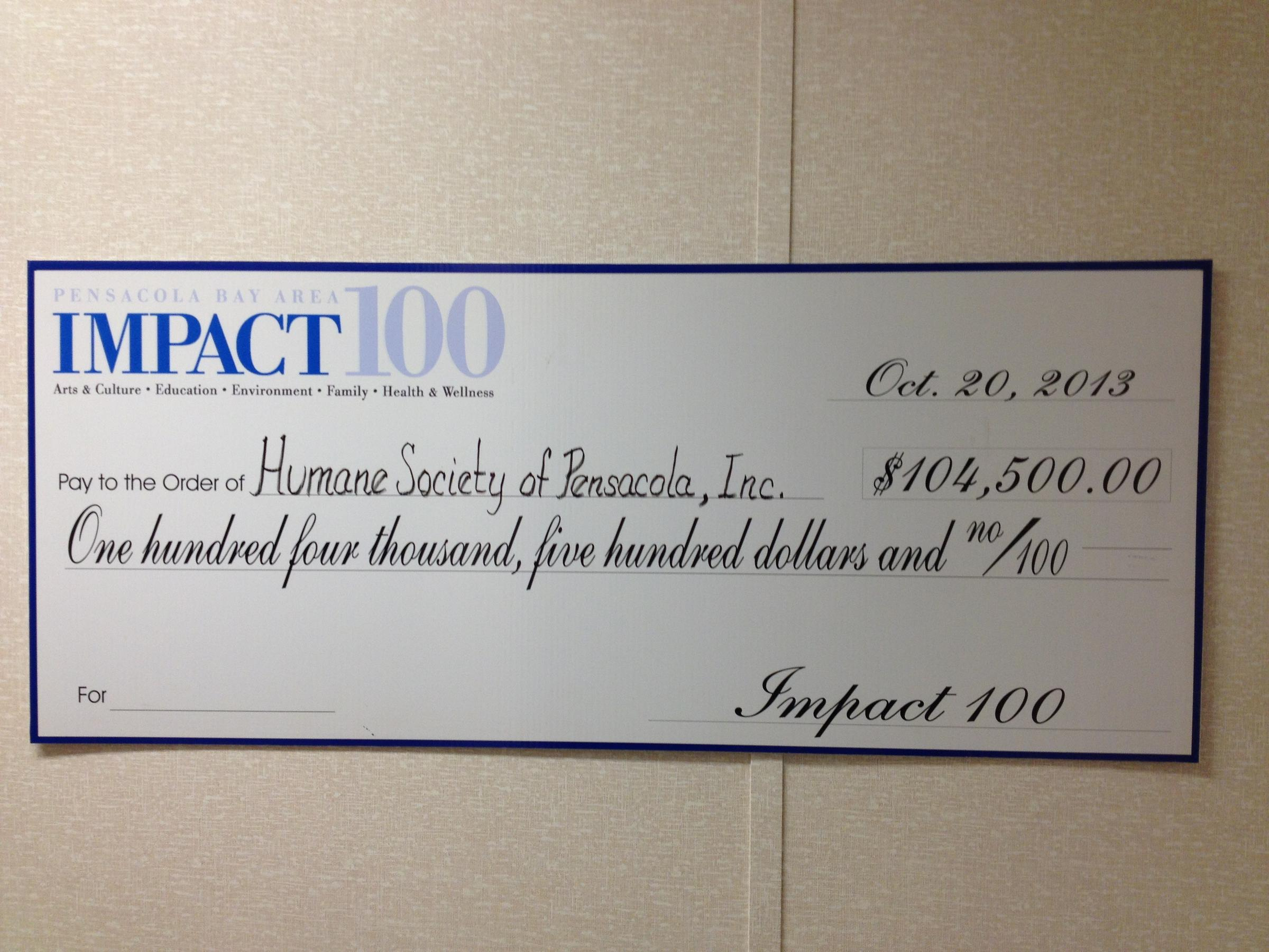It Was A Grant From Impact 100 That Finally Made The Clinic Possible  Pensacola Humane Society A Basecamp Message Thread How To Write A Check