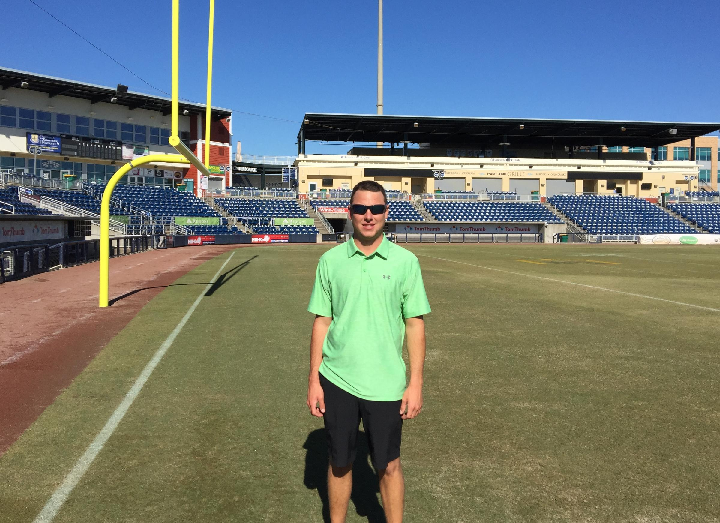 New Head Groundskeeper Dustin Hannah