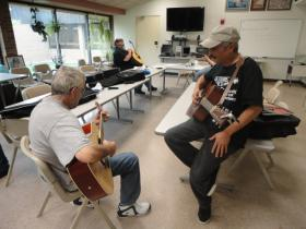 Guitars for Vets provides free lessons and a guitar to veterans who've suffered trauma.