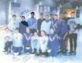 Bridie Farrell and Andy Gabel, top row second and third from left, at training in Saratoga Springs, N.Y., in 1997