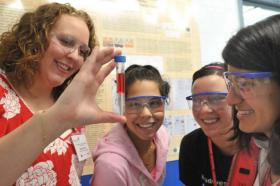 """The U.S. Department of Energy's Argonne National Laboratory hosts events like """"Science Careers in Search of Women,"""" to attract women and minorities to STEM fields."""