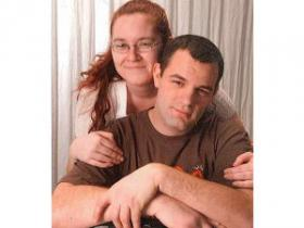 Justin Claus and his fiance, Crystal Scroggins.