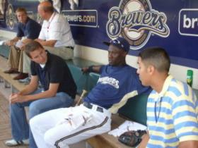 Brewers outfielder Mike Cameron says he hopes the team's success inspires more kids to play.