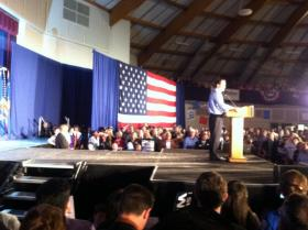 Walker told the gathering he'll work with his opponents moving forward.