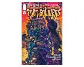 """Cover art from Jim Krueger's story, """"The Foot Soldiers."""""""