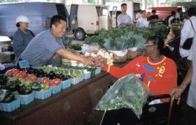 Vegetables abound at Fondy's Food Market.